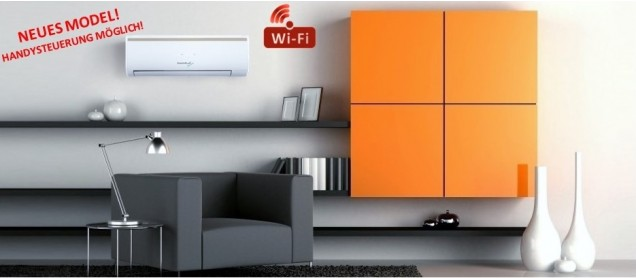 Klima Splitgerät INVERTER 2,6 kW WiFi